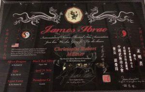 Black Belt Award to Christophe Millner